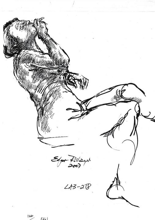 Woman smoker LA9-166-10 - Edgar Pillinger