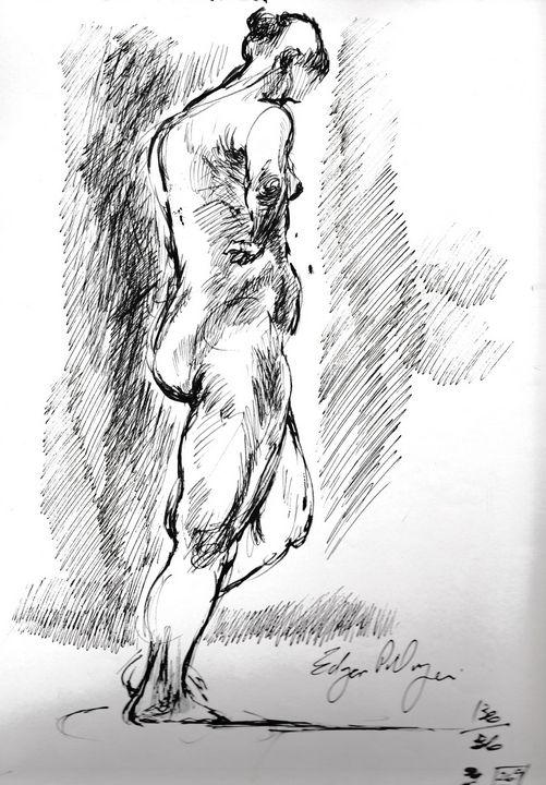 Standing woman 1 - Edgar Pillinger