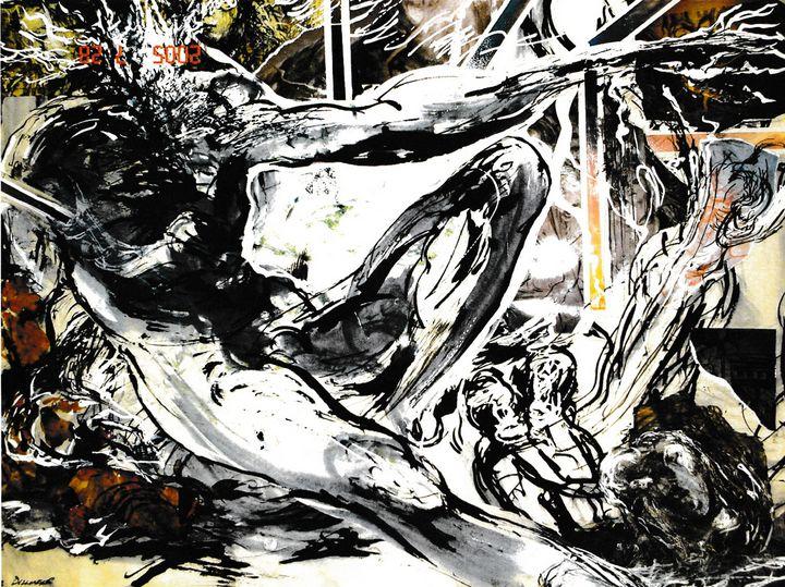 Abstract reclining male LA3-10 - Edgar Pillinger