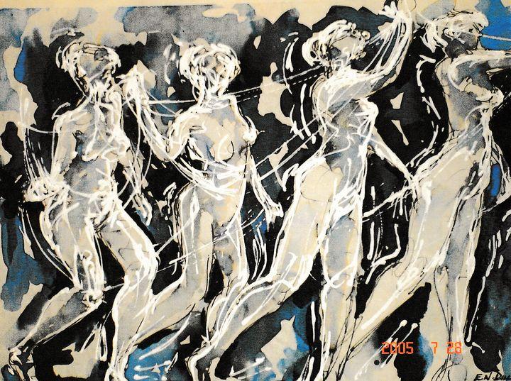 four woman abstract LA3-6 - Edgar Pillinger