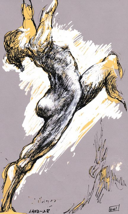 woman with outstretched arms - Edgar Pillinger