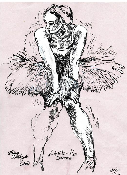 Pink Dancer at rest LA5D-16 - Edgar Pillinger