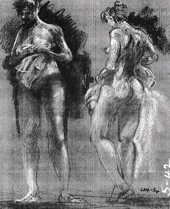 Two woman with towels LA4-34 - Edgar Pillinger