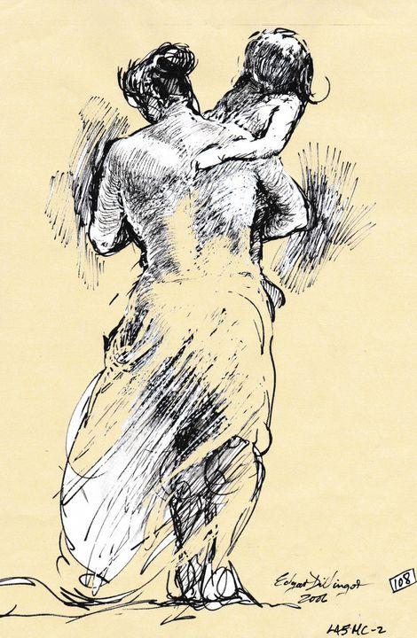Woman carrying child - Edgar Pillinger