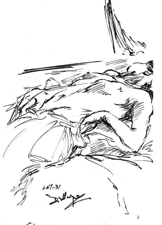 Woman sleeping - Edgar Pillinger