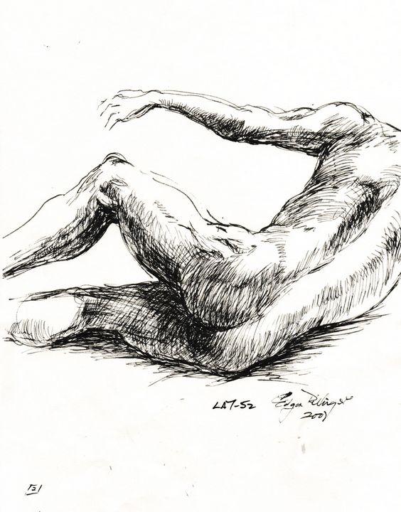 Male falling to floor   LA7-52 - Edgar Pillinger