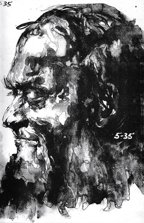 Male head   LA6-106 - Edgar Pillinger