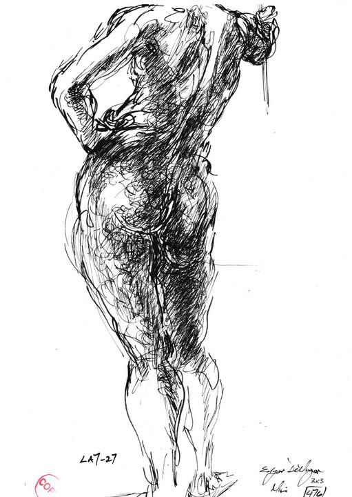 Woman standing LA7-27 - Edgar Pillinger
