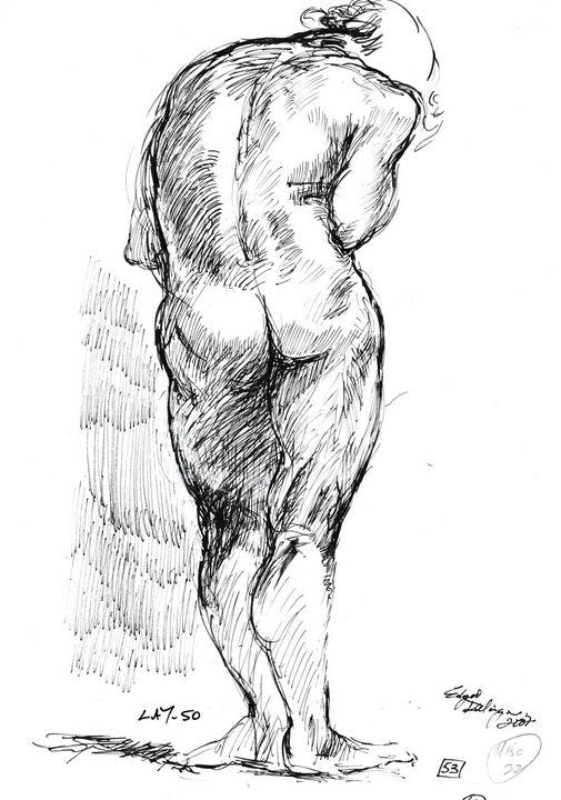 Woman standing LA7-50 - Edgar Pillinger