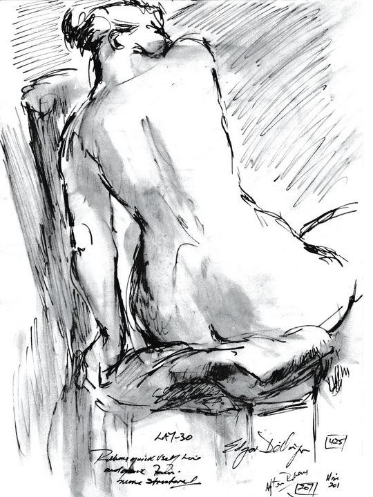 Seated Woman LA7-30 - Edgar Pillinger
