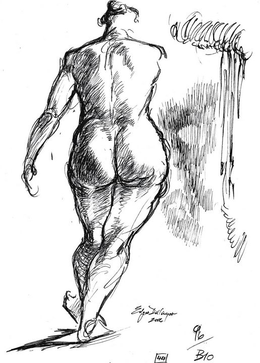 Woman walking LA7-148 - Edgar Pillinger