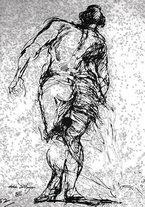 Woman walking LA7-212 - Edgar Pillinger