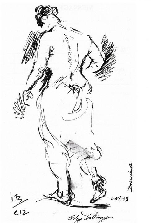 Woman walking LA7-33 - Edgar Pillinger