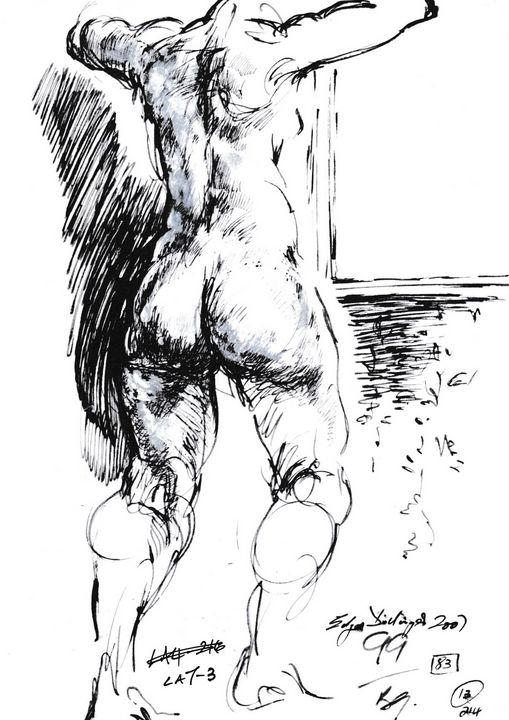 Woman standing LA7-3 - Edgar Pillinger