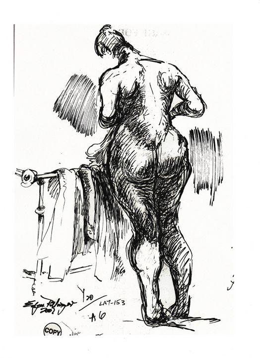 Woman with towel LA7-153 - Edgar Pillinger