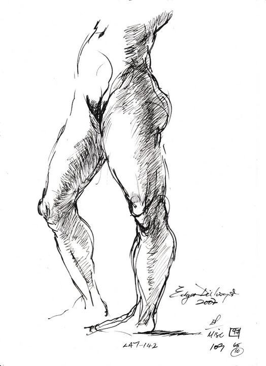 Woman standing LA7-142 - Edgar Pillinger