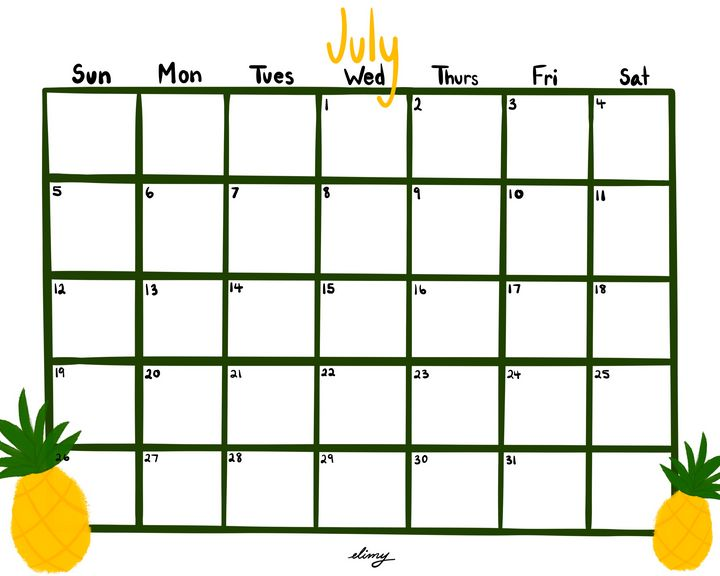 July Calendar - elimy