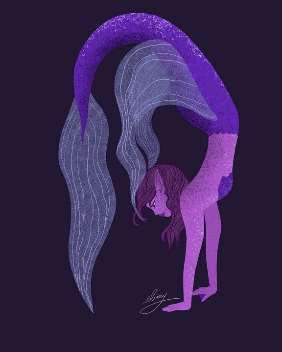 Purple Mermaid (purple background) - elimy