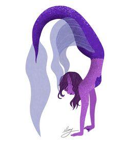 Purple Mermaid (white background)