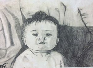 sitting posing baby - inolaARTS