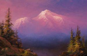 Alpine Glow Study of Mount Shasta
