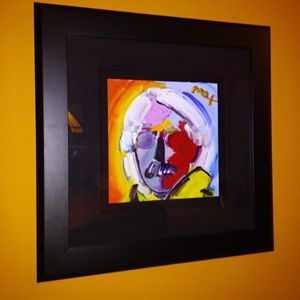"Peter Max ""Andy Warhol with Mustach"""