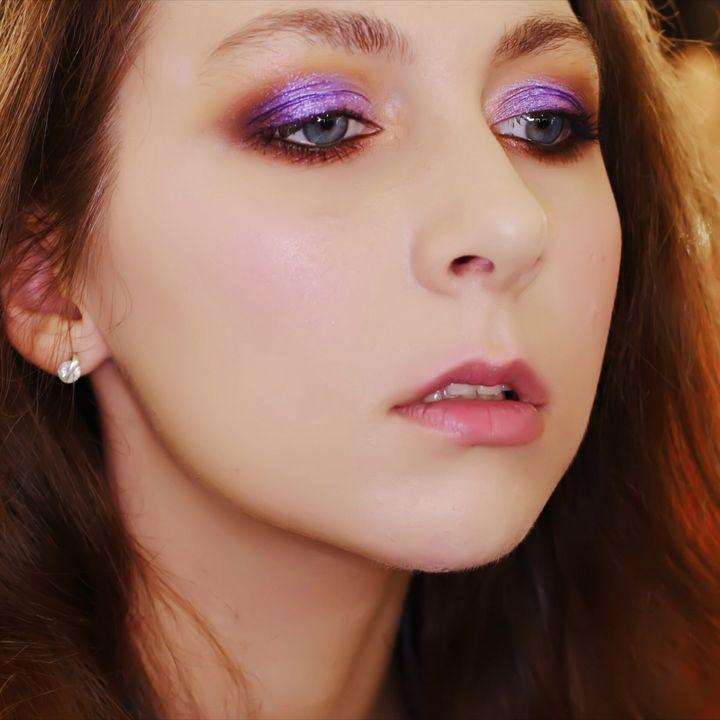 violet makeup portrait - Alenenok_art