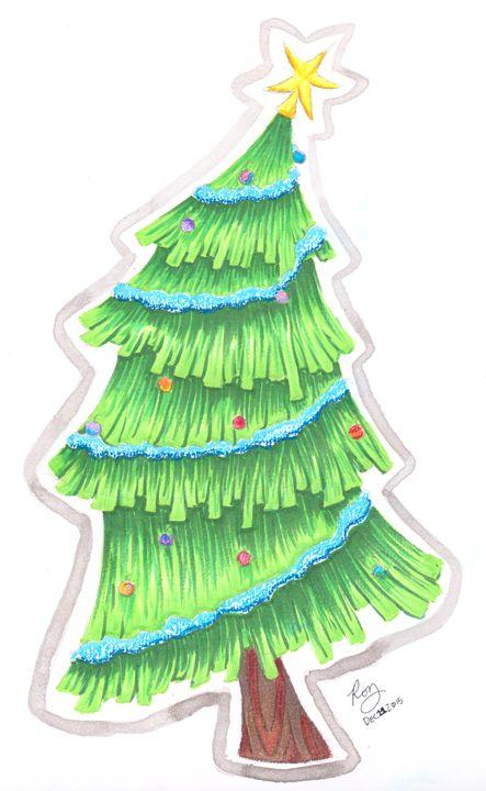 Christmas Tree - Rozzi's Doodles