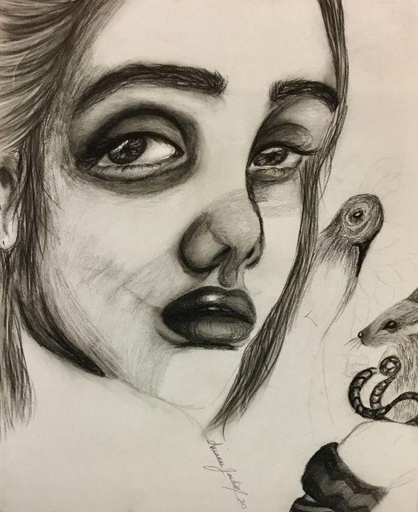 Charcoal drawing - AriJacksonArt