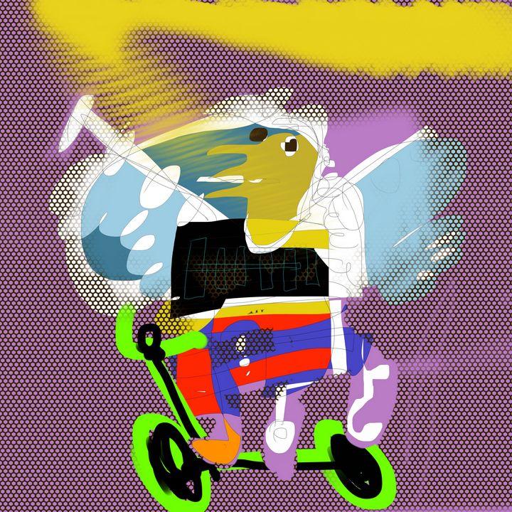 bird in a bike - Alexandre Veneziano