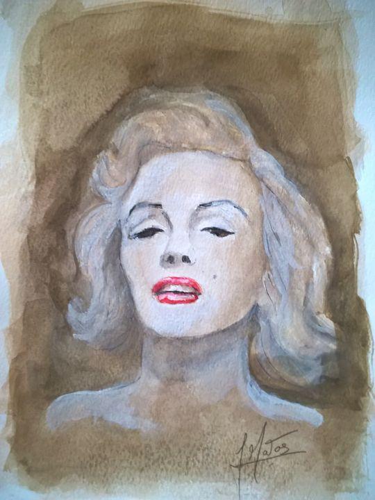 Marilyn Monroe watercolor portrait - João Matos