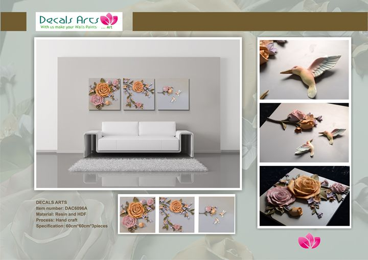 DECALS ARTS 3D EMBOSSED PAINTINGS - DECALS ARTS 3D EMBOSSED PAINTINGS