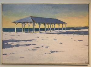 Winter Beach - Block Island 51 x 35