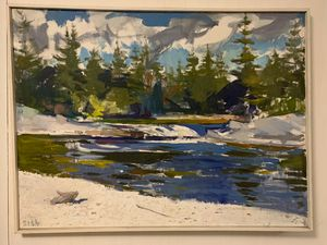 Pemigewasset River - Oil on Canvas