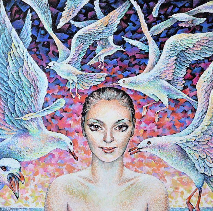 Girl and Gulls.2012 - Vitaly Zasedko