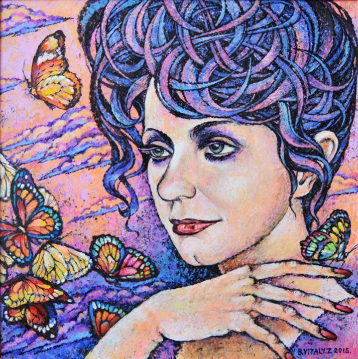 Women with butterfly - Vitaly Zasedko