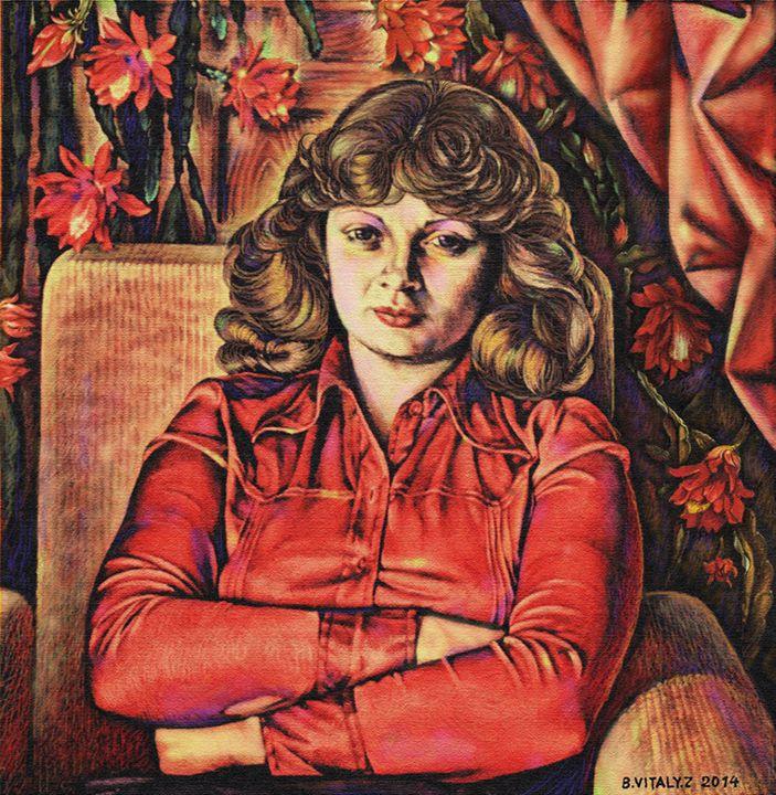 Woman in red dress - Vitaly Zasedko