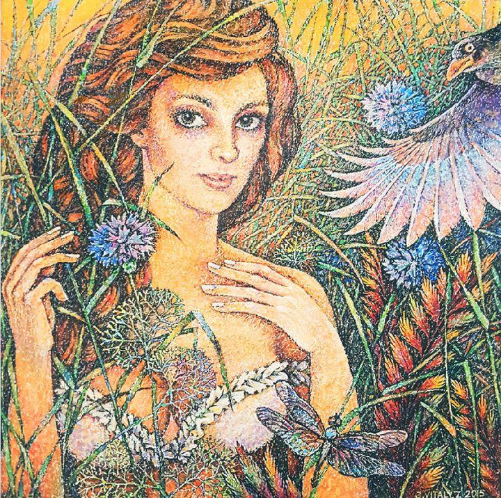 Girl and Bird - Vitaly Bobylev