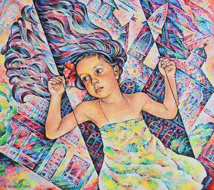 Girl on Swing - Vitaly Zasedko