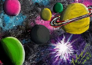 colorful galaxy - Prints for Kids