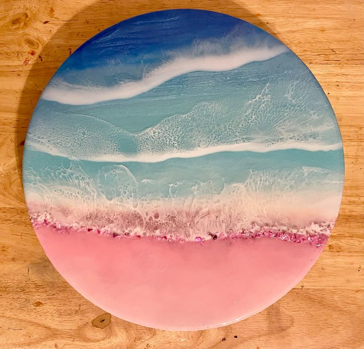 Pink Sand Beach - Art from the Heart by Patricia