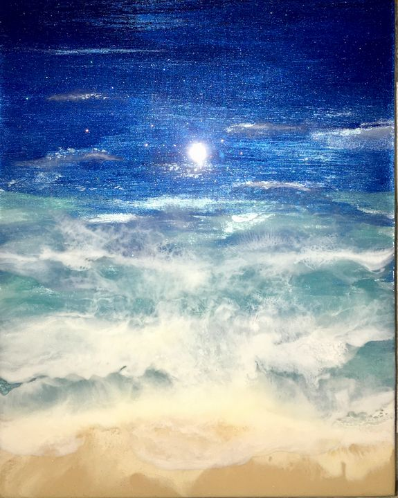 Moonlight on the Water - Art from the Heart by Patricia