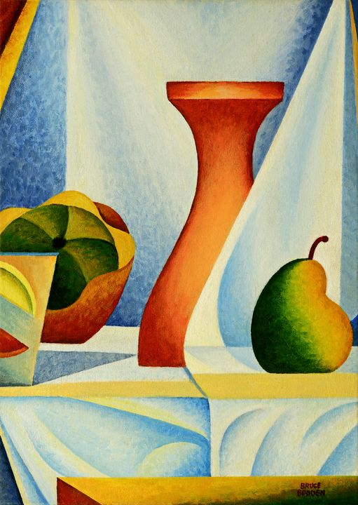 Still Life With Vase And Pears - Bruce Bodden