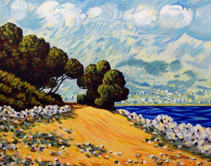After Monet-Menton From Cap Martin - Bruce Bodden