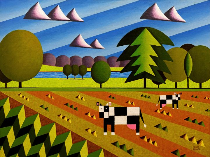 English Countryside With Cows-Big - Bruce Bodden