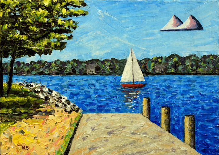 Sailboat At Kimberly Point - Bruce Bodden