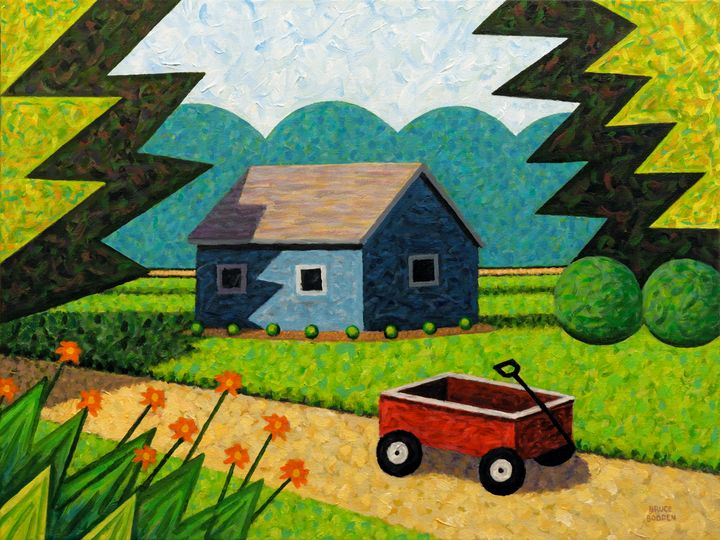 Shed And Wagon - Bruce Bodden