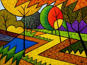 Harp Pond Abstract