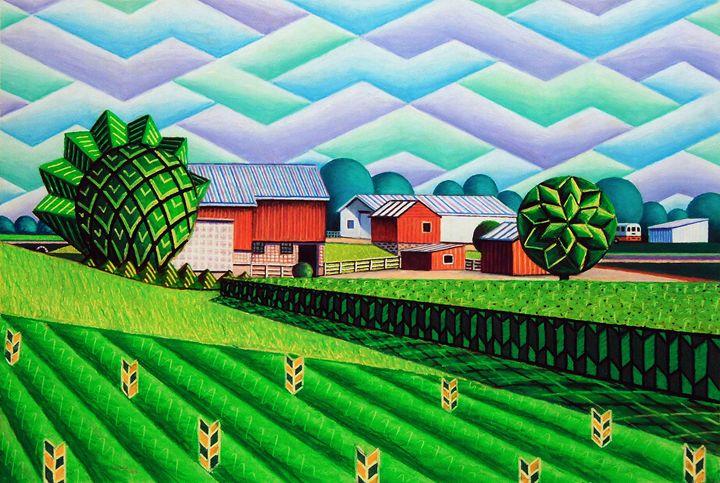 Farm By Ripon - Bruce Bodden
