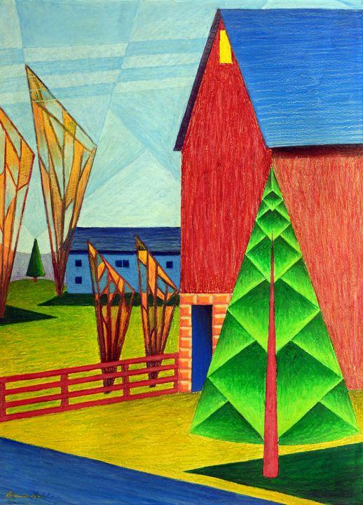 The Barn Across The Highway - Bruce Bodden